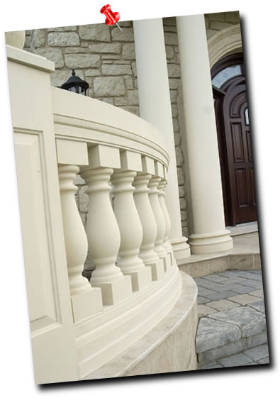 A beautiful curved balustrade.