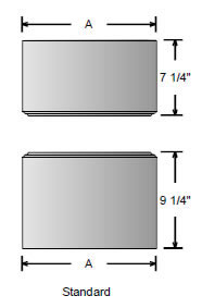 Standard Cap and Base for Square Non-Tapered Column made from PVC