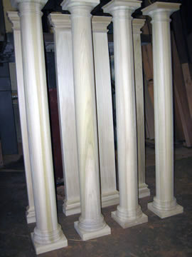Columns Ready for Shipment from Pagliacco Turning & Milling