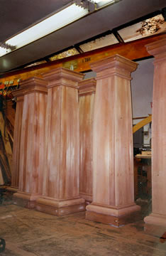 Custom wood columns made by Pagliacco Turning & Milling