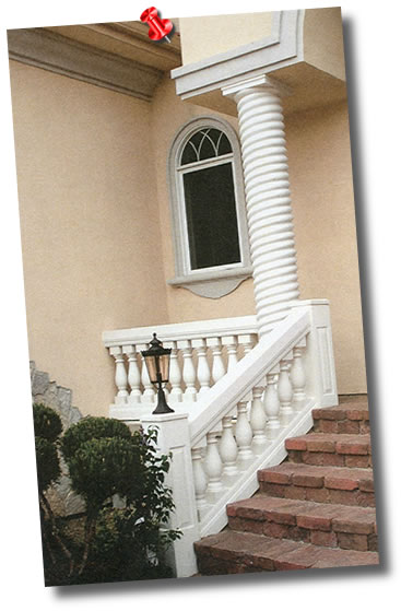 RoyalCast Rope Twist Column Installed Front Porch